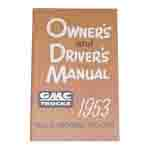1953 Owners manual, GMC