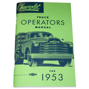 1953 Owners manual, Chevrolet
