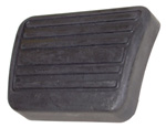 1977 Pedal pad for brake or clutch pedal, ribbed