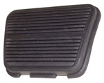 1968 Pedal pad for brake or clutch pedal, ribbed design