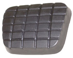 1972 Pedal pad for brake or clutch pedal, waffle design