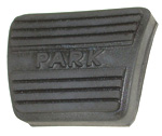 1977 Pedal pad for parking brake, has the words Park