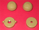 1953 Radio knobs, tan