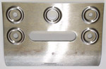 1956 Radio dash face metal repair patch panel, 7-3/4 inches by 9-3/4 inches