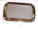 1960 Radio speaker grille cover, chrome