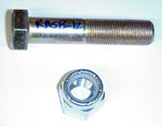 1965 Nut and bolt for rear axle stabilizer bar to frame