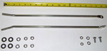 1958 Running board (step) braces, rear