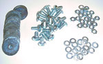 1966 Rear fender bolt kit, zinc plated