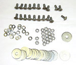1937 Rear fender bolt kit, stainless steel