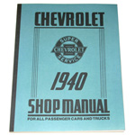 1940 Shop manual book, Chevrolet