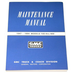 1953 Shop maintenance manual book, GMC
