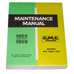 1956 Shop maintenance manual book   GMC