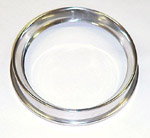 1954 Bezel for speedometer or gauge cluster, stainless steel