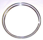 1936 Trim wheel rings for 16 inch wheels, stainless steel