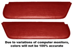1954 Inside sunvisor pads, dark red (maroon)