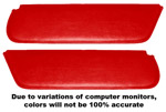 1954 Inside sunvisor pads, medium red