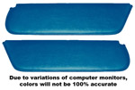 1954 Inside sunvisor pads, medium blue