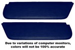 1954 Inside sunvisor pads, navy blue