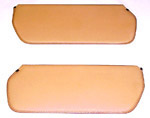 1973 Inside sunvisor pads, light buckskin