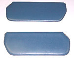 1973 Inside sunvisor pads, medium blue