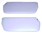1976 Inside sunvisor pads, medium gray