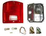 1983 Taillight housing and lens assembly, without trim