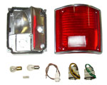 1977 Taillight housing and lens assembly, with trim