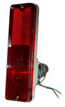 1967 Taillight assembly, metal body