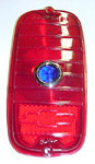 1960 Taillight lens, red with blue dot