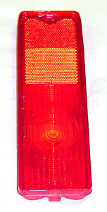 1969 Taillight lens, red