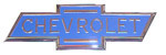 1938 Hood side emblems, blue bowtie - pair