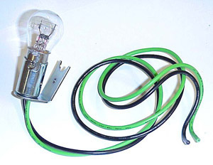1947 Double socket replacement to convert your parklights for turn signal bulbs, includes bulb