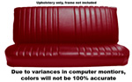 1984 Upholstery (only) for bench seat, ribbed Madrid grain vinyl