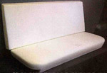 1975 Bench seat back & bottom foam, molded