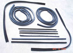 1968 Door weatherstrip kit, both front doors