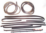 1976 Door weatherstrip kit, both front doors
