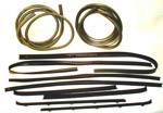 1973 Door weatherstrip kit, both front doors