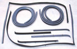 1987 Door weatherstrip kit, both rear passenger doors