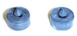 1944 Side window rubber bumper stops, 2 pieces
