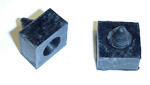 1958 Side window rubber bumper stops, 2 pieces