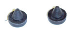 1967 Side window rubber bumper stops, 2 pieces