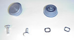 1977 Knobs and studs for inside window handles, clear