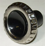 1962 Wiper knob, black and stainless
