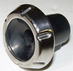 1965 Wiper knob, black and stainless