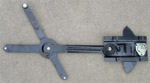 1971 Window regulator, left