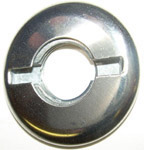 1956 Wiper switch bezel, stainless steel