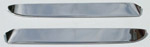 1973 Window vent shades, polished stainless steel