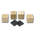 1948 Bed mounting blocks and pads only, short bed