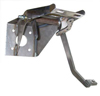 1958 Power brake booster pedal assembly, under dash mount