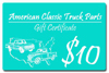 1963 Gift certificate - $10.00 value